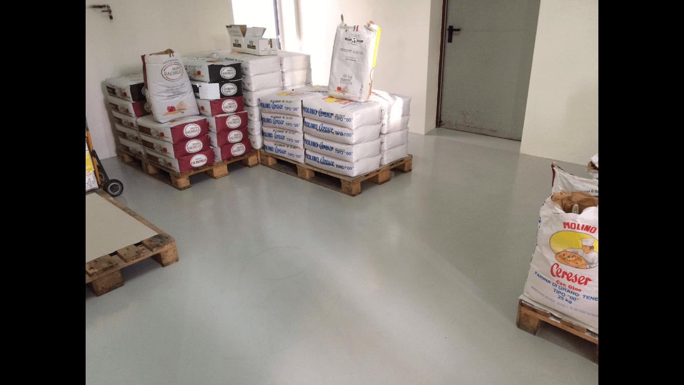 pavimentazione magazzino azienda industriale in resina multistrato