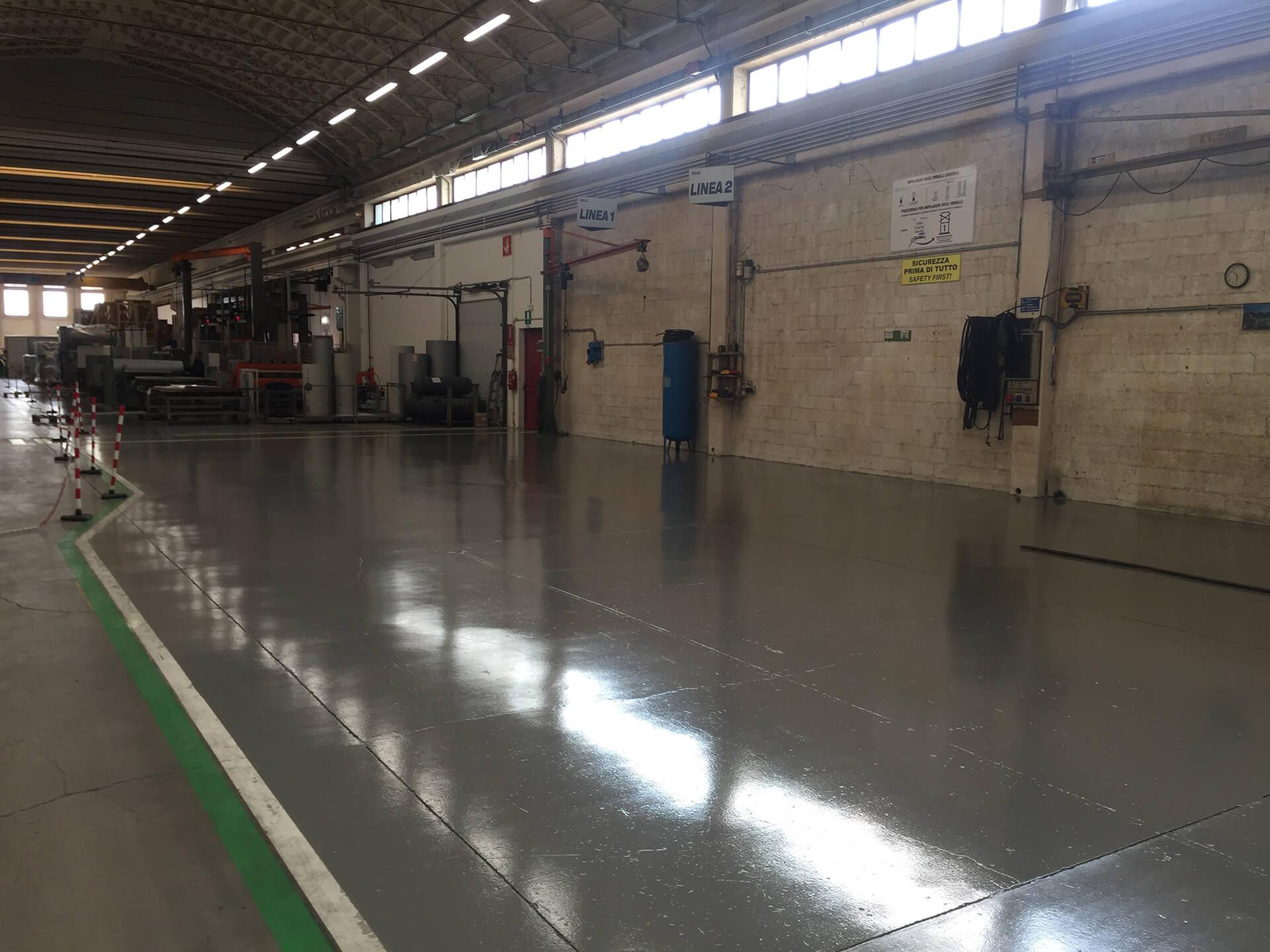 pavimentazione in resina industria
