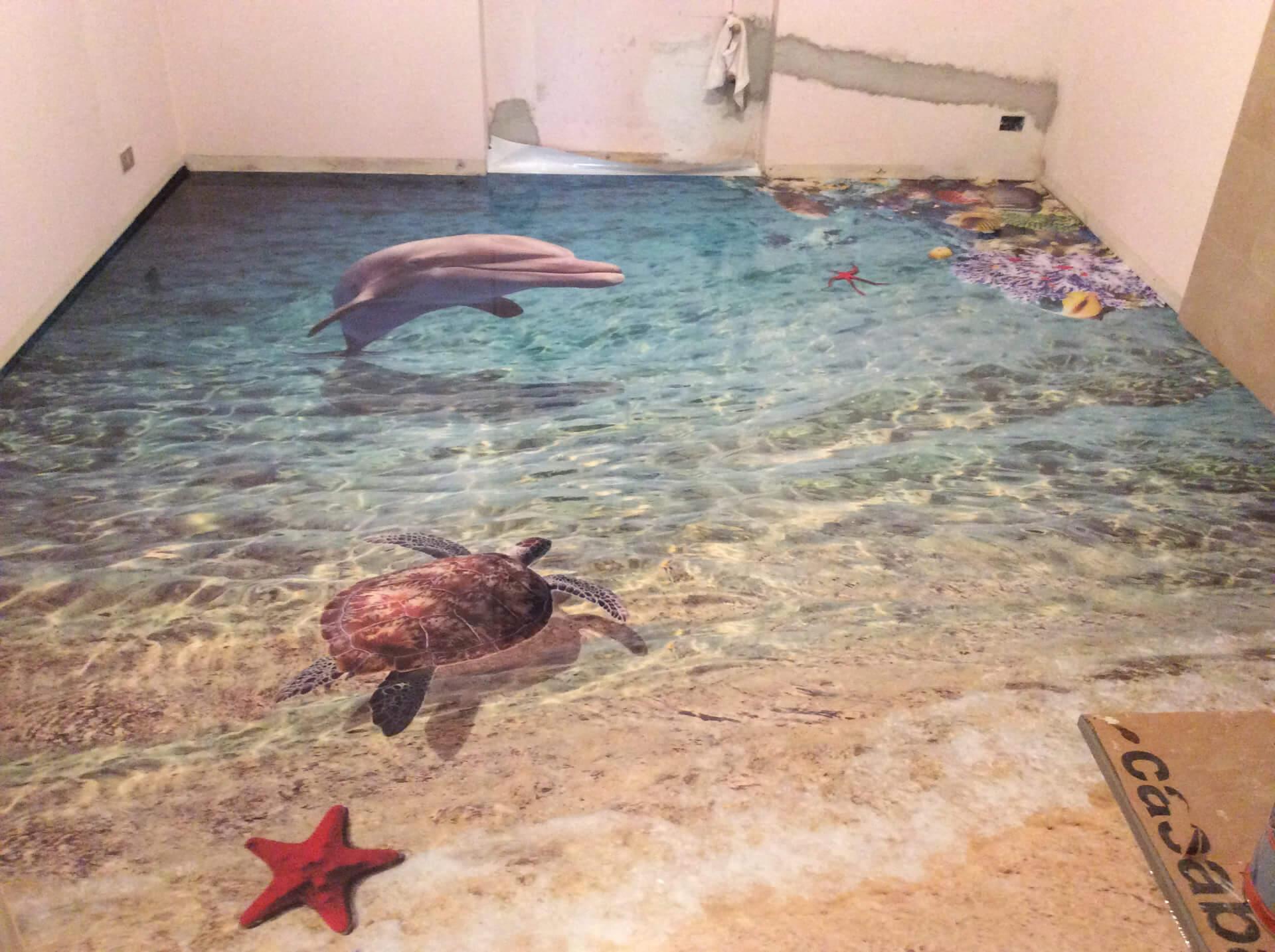 pavimentazione bagno in resina