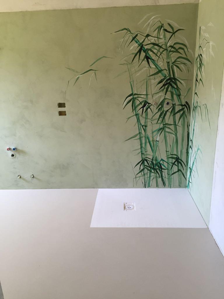 rivestimento parete bagno in resina