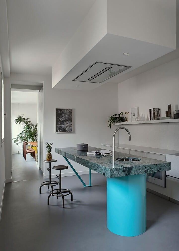 pavimentazione in resina cucina