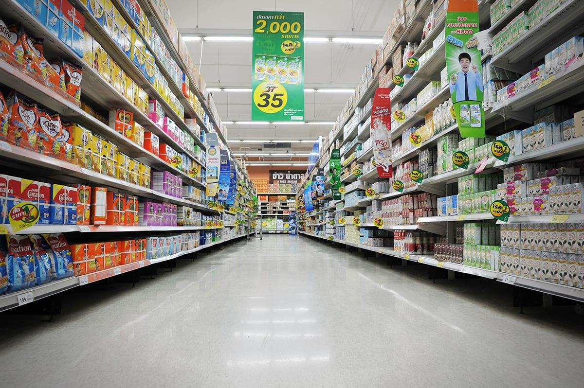 resina per pavimenti negli esercizi commerciali